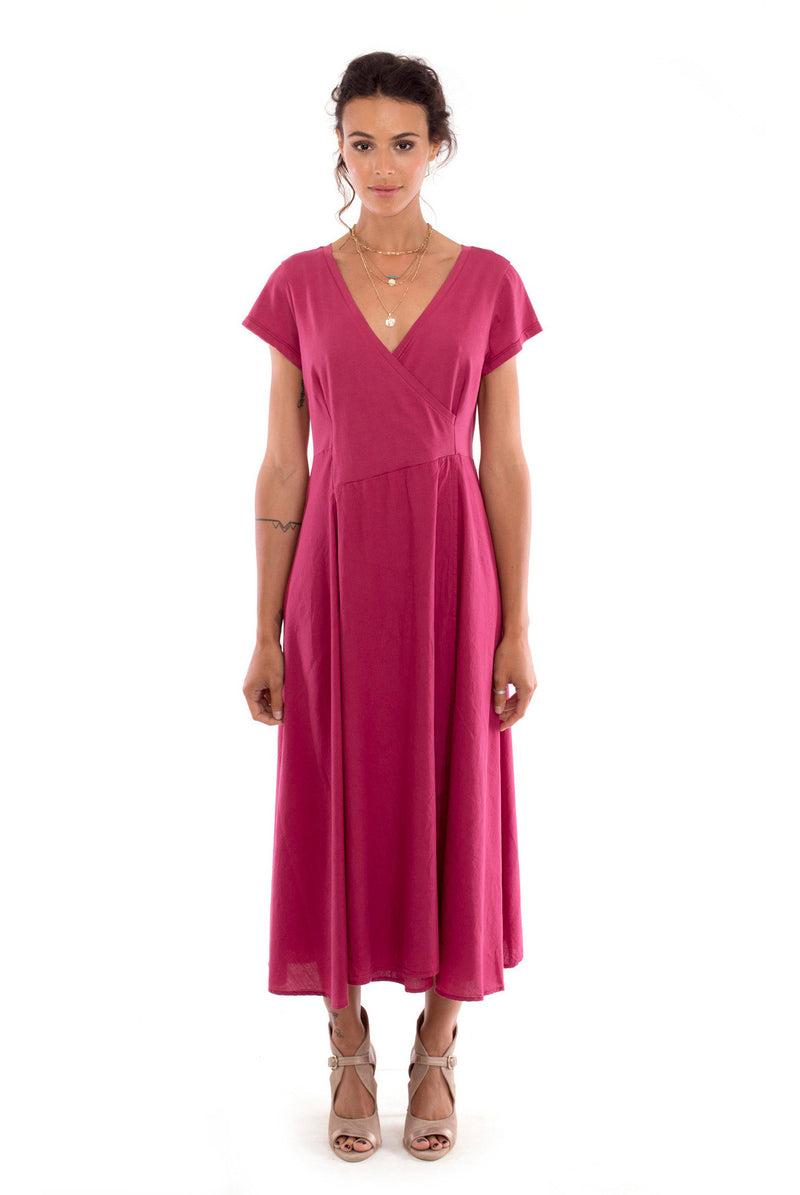 Emma X - Maxi Dress - Colour garnet - RV by Elisa F 2