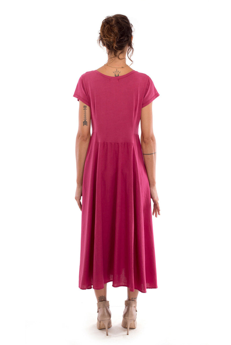 Emma X - Maxi Dress - Colour garnet - RV by Elisa F 3