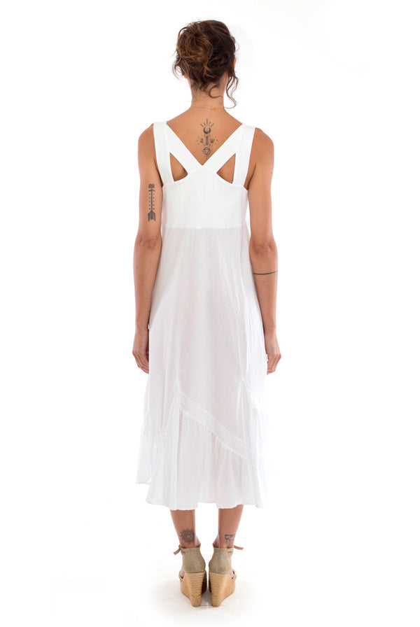 Coco - Midi Dress - Colour White - RV by Elisa F 3