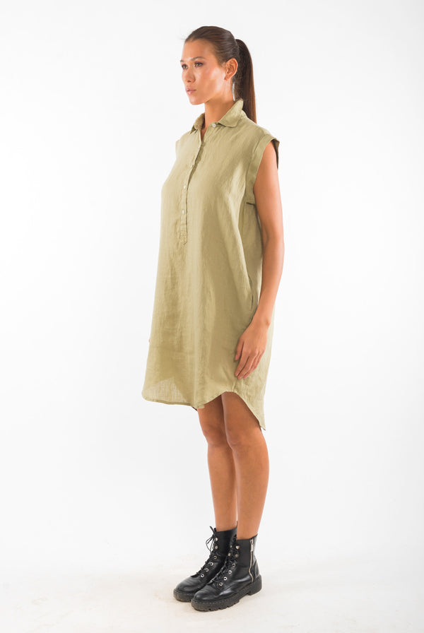 Amalfi NS Linen Shirt Dress