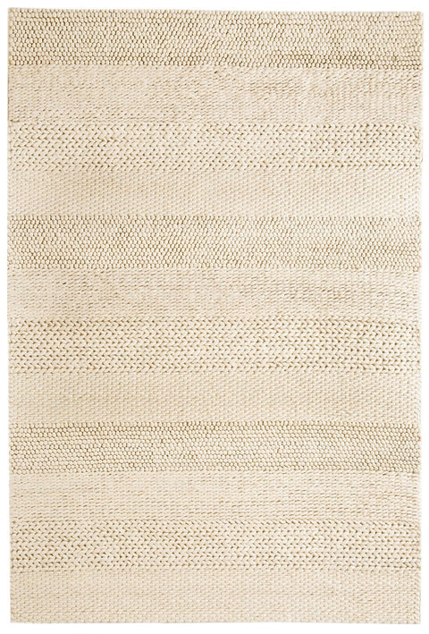 Fleur Ivory Braided and Looped Rug