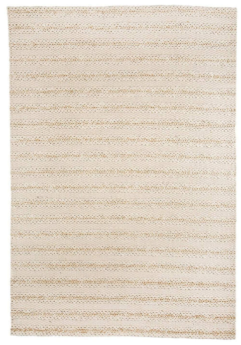 Isabella Marbled Ivory and Beige Braided Rug