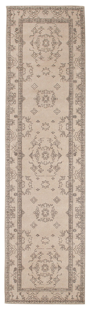 Sienna Beige and Black Scandi Print Runner Rug