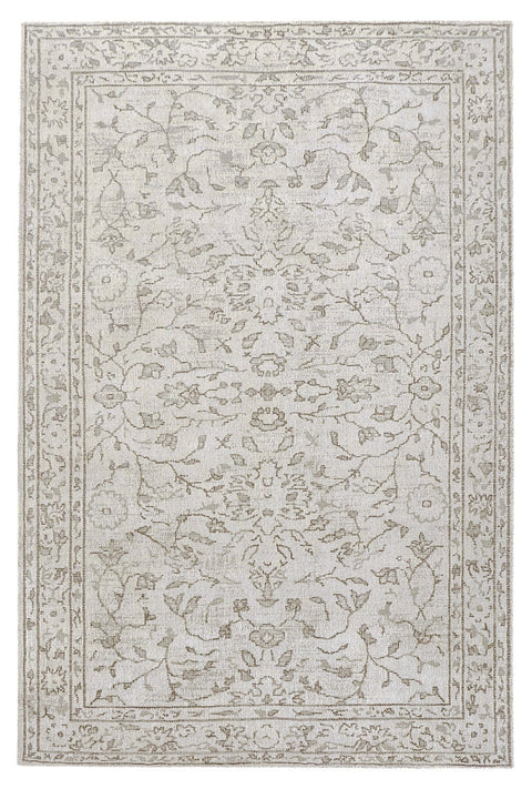 Sonia Beige and Grey Floral Pattern Rug