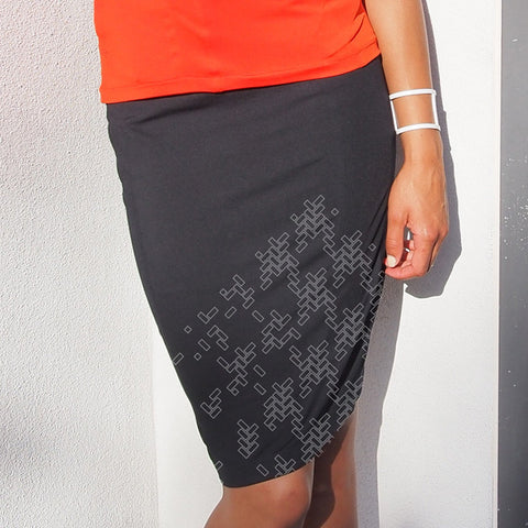 MANCHESTER KNIT SKIRT -Black/White