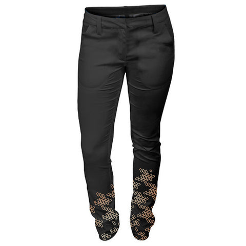 MANCHESTER WOVEN TROUSER -Black/Rose Gold