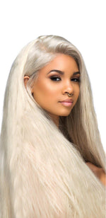 Indian Blonde Straight - Transparent Lace Frontal Wig
