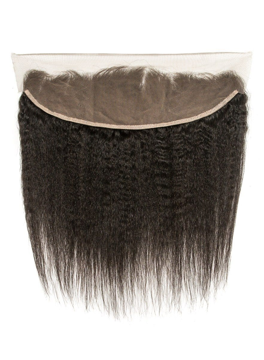 Mongolian Natural Kink Straight Lace Frontal