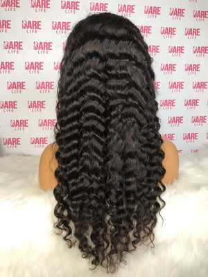 Curly Transparent Lace Frontal Wig