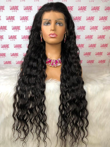 Mongolian Optimum Wavy - Transparent  Lace Frontal Wig 180 density