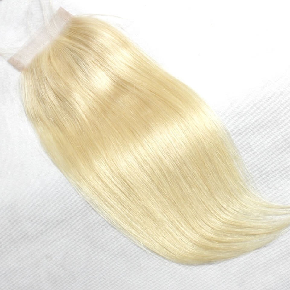 European Luxury Blonde Straight Lace Closure