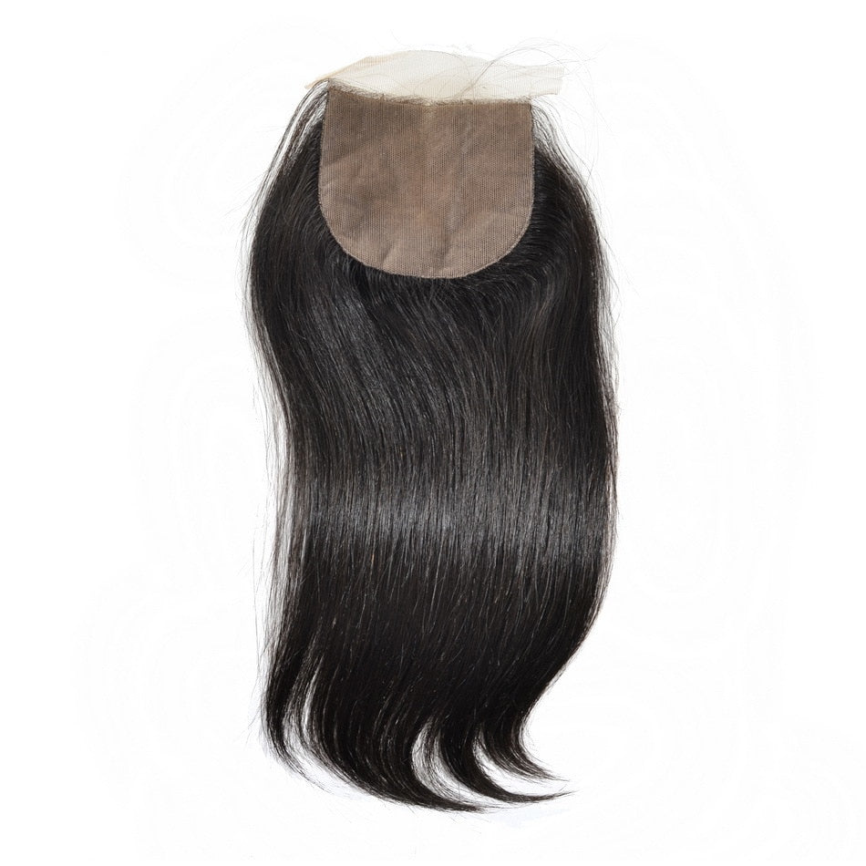 Malaysian High Luster Straight Silk Closure