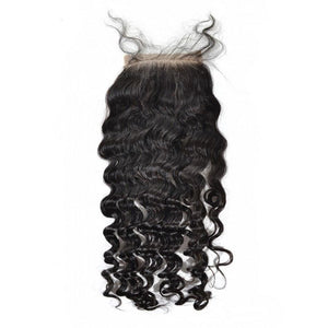 Peruvian Oh So Curly Silk Closure