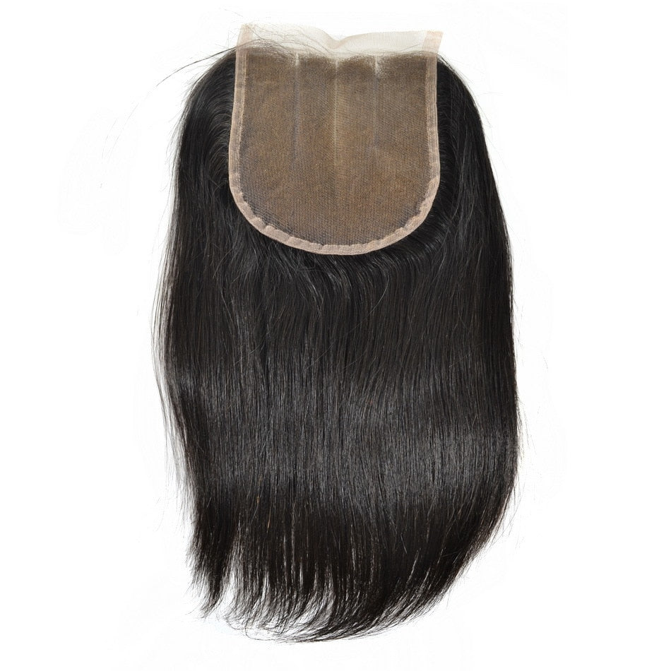 Indian Naturally Straight Silk Closure