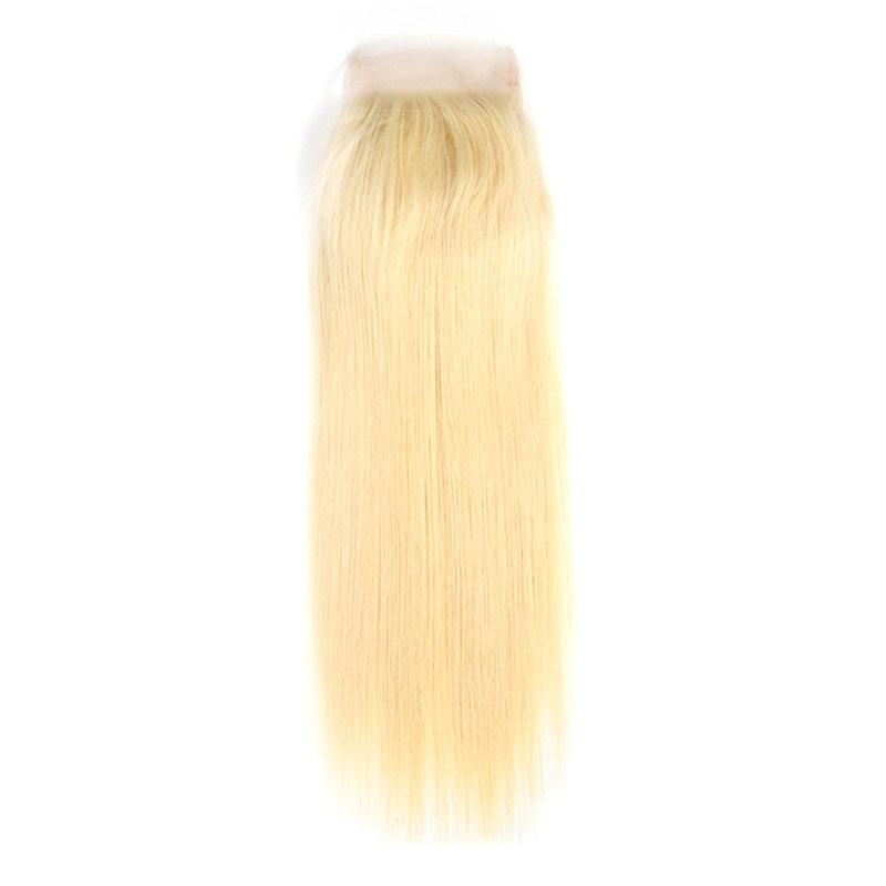 Indian Blonde Luscious Straight Lace Closure