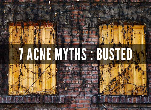 7 acne myths busted