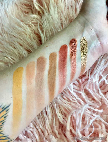 Jaclyn Hill swatches row 2