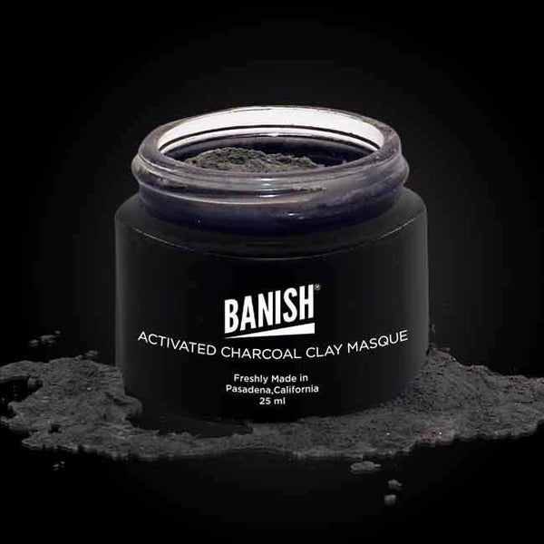 Banish activated charcoal clay masque