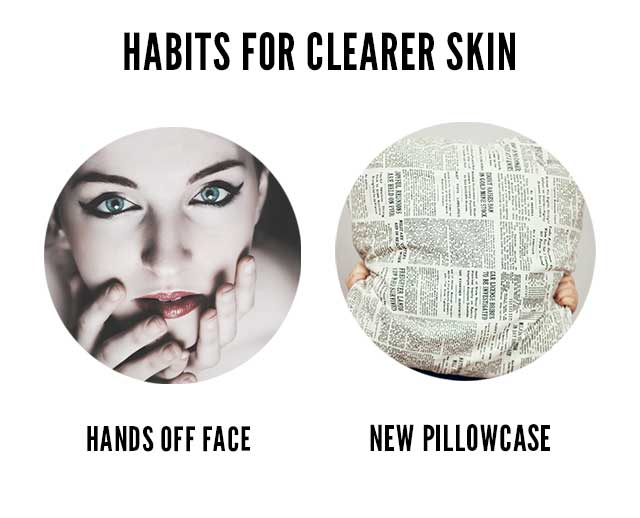 habits for clear skin