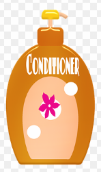 orange conditioner bottle