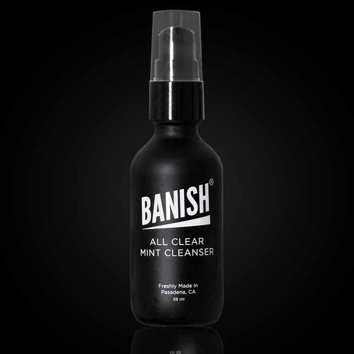 banish all clear mint cleanser