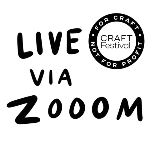 LIVE Portrait on via Zoom part of Digital Craft Festival Saturday 27th March 2021