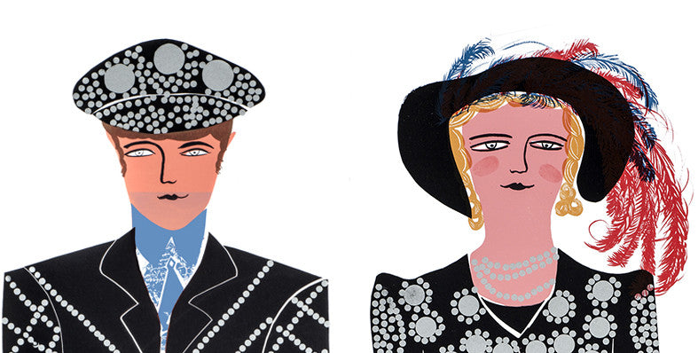 Pearly King & Queen set