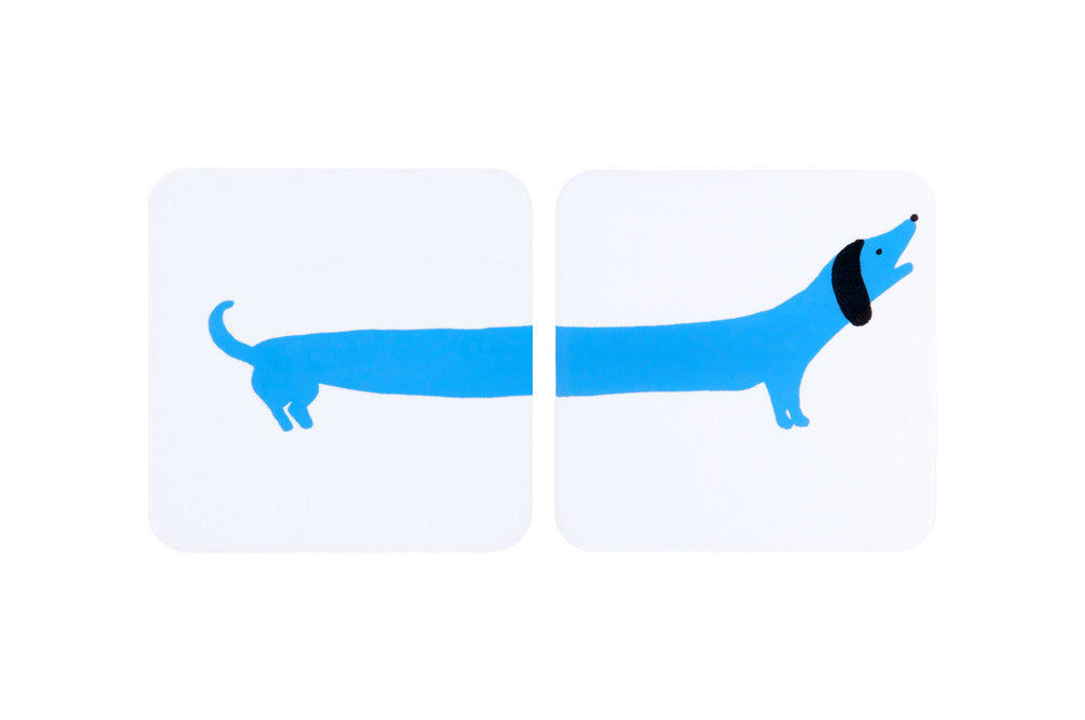 Sausage Dog coasters -Blue