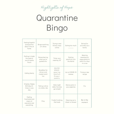 Let's Play Quarantine Bingo!