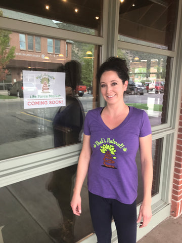 Tisha Casida, CEO of That's Natural Life Force Market at Showcase Store Opening in Willits, Colorado