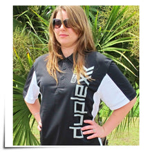 Load image into Gallery viewer, Polo Shirt Black/White Jeti USA Size M