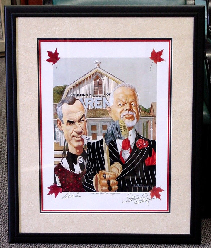 Canadian Gothic Framed Limited Number of Don and Ron Autographed -LOT #13 SERIES 2