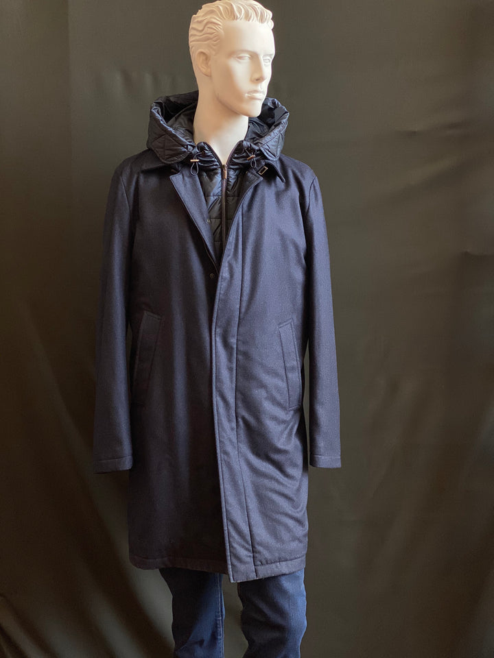 Swing Coat with Hoddie insert