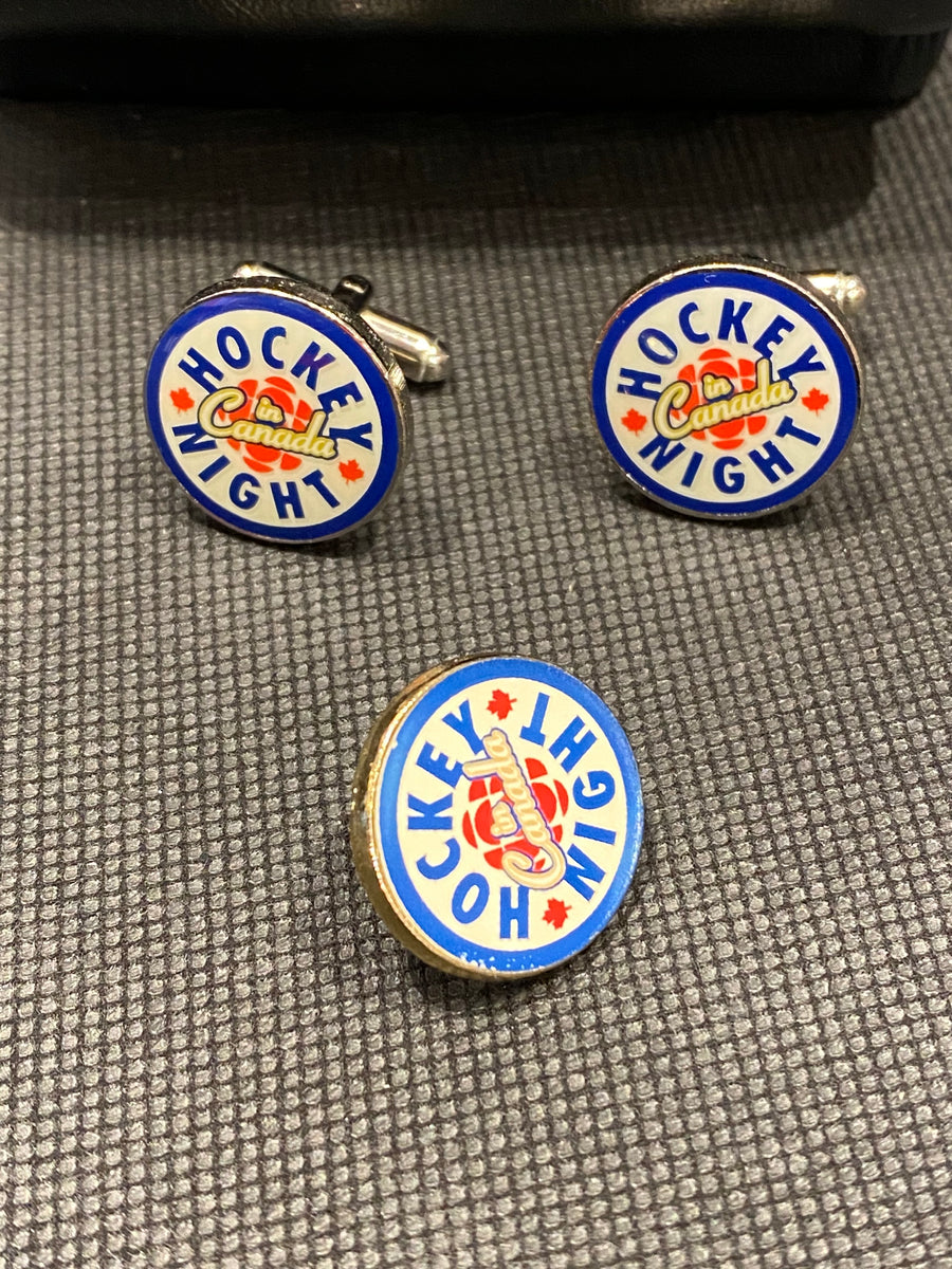 Don Cherry HNIC Cufflink and Lapel pin set  -LOT#24 SERIES 2