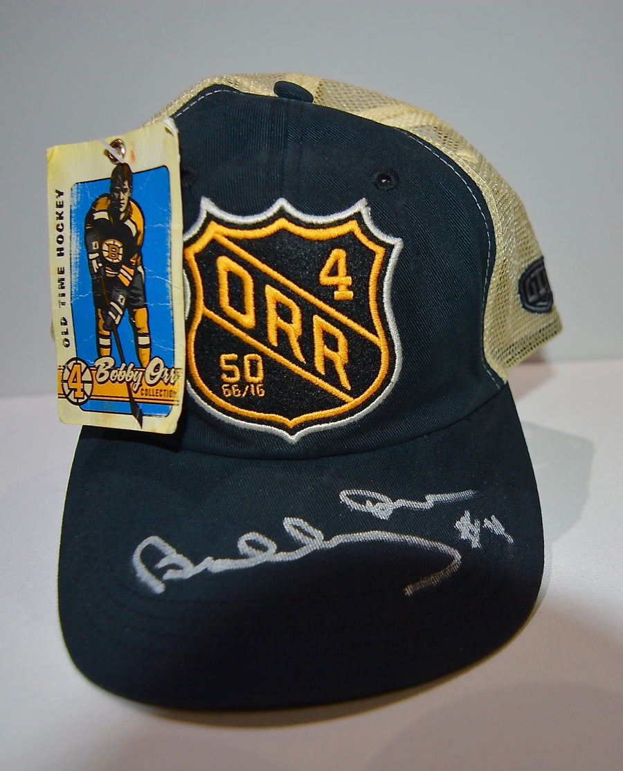 Bobby Orr Autographed Trucker Style Cap -LOT #12 SERIES 2