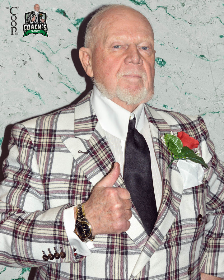 Don Cherry's Flanneled Wine Windowpane Double Breasted Jacket Ensemble
