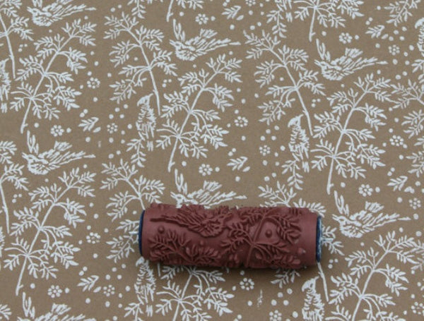 Wall Design Roller : Spring bird patterned paint roller notwallpaper
