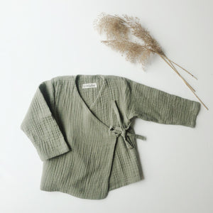 :bEL baby wrap jacket soft green