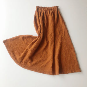 MIDI Skirt Woman rusty brown