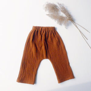 belstore Baby Harem pants rusty brown