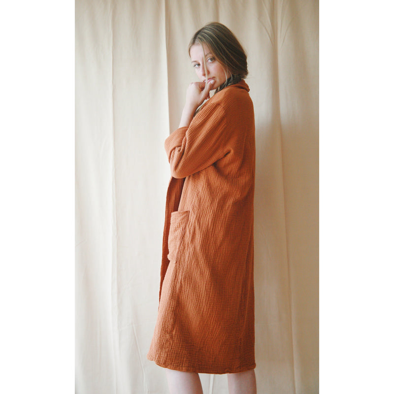 belstore Manta coat long rusty