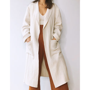 belstore MANTA coat long nature white