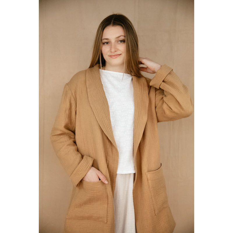 belstore MANTA coat long caramel
