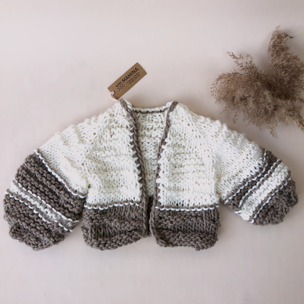 MAMINA Knit Jacket Puffy Kids