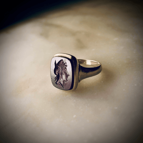 14k Rose Gold Intaglio Ring