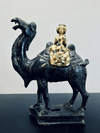 Sancai-glaze Tang Dynasty Style Bactrian Camel and Rider