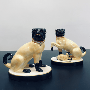 Chelsea House Porcelain Pugs Made in Italy