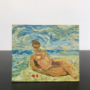 Impressionist Nude on Beach