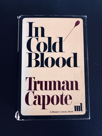 In Cold Blood by Truman Capote, (Modern Library First Edition)