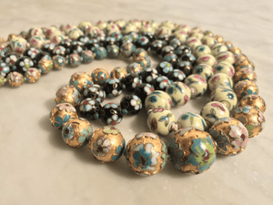 Hand-Painted Floral Porcelain Necklace